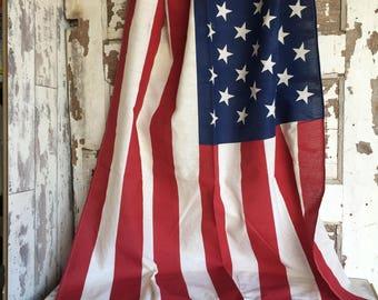 Vintage Cotton American Flag - Medium Size - Printed
