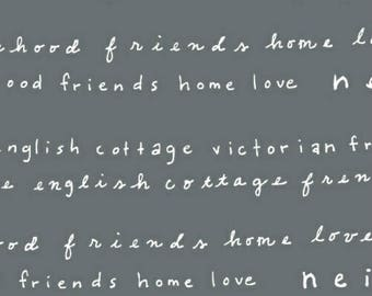 ON SALE Neighborhood by Alyson Beaton for Windham Fabrics Words Gray