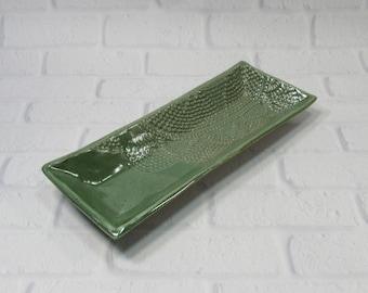 Appetizer Tray - Sushi Server - Crackers Dish - Cheese Dish - Dresser Valet - Trinket Tray - Jewelry Dish - Ring Dish - Eyeglasses Tray