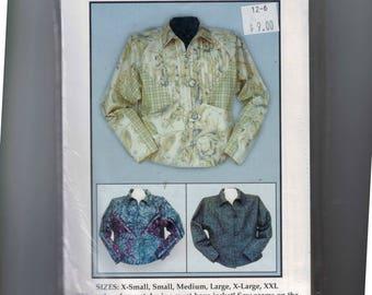 Craft Sewing Pattern Seam Stunning Jacket Raglan Sleeve Pleated Front Art Jacket UNCUT