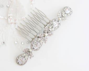 Bridal Hair Comb Wedding Hair Accessory Veil Comb Crystal Hair Piece Rhinestone Comb Veil Comb VIVIENNE