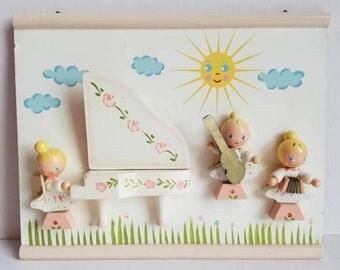 Vintage Irmi Wall Hanging - Angel Orchestra - Vintage Irmi Nursery - Midcentury Nursery - Nursery Plastics