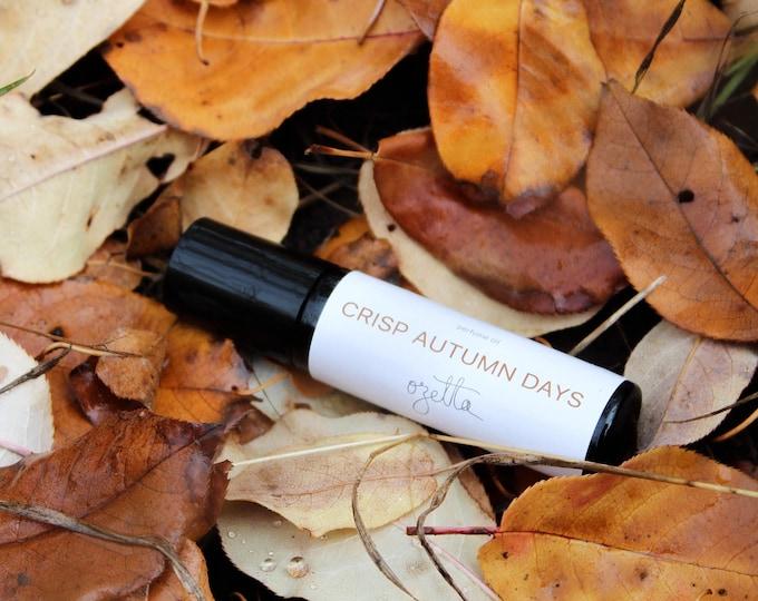 Featured listing image: Essential Oil Roll On Perfume, Natural Perfume, Autumn / CRISP AUTUMN DAYS