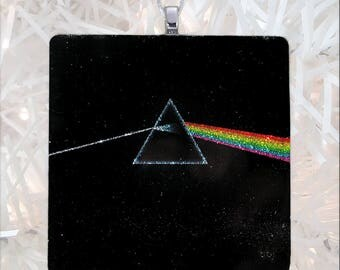 Pink Floyd-Dark Side of the Moon Album Cover Glass Ornament