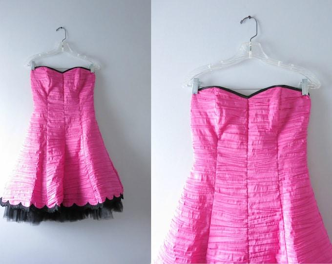Modern | Gunne Sax Pink Cocktail Party Dress XS