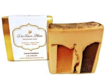Hazelnut Coffee Soap/Handmade Soap/Vegan Soap/Natural Soap/Christmas Soap/Soap Gift/Christmas Gift/Gift for her/Coffee Soap/Stocking Stuffer