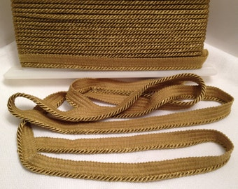 Gold Twisted Cord, Trim, Home Decor, Fiber, Pillows, Costumes, Craft Supplies, Sewing Supplies, Draperies, Bags and Purses, Hats, Per 3 yds