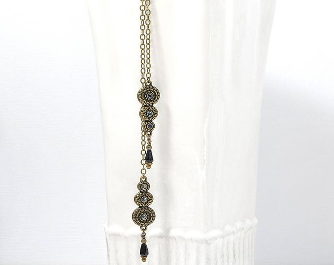 Bohemian Hair Jewelry Hair Charm 8 inch Boho Hair Accessory Bronze Gypsy Hair Dangle Snap Clip or UPin Hair Fork