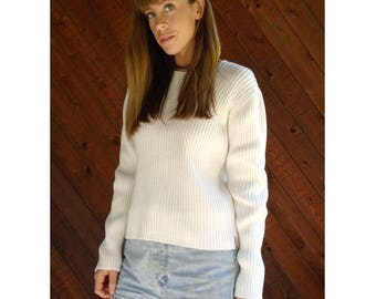 Chunky Rib CALVIN KLEIN Pullover Sweater - Vintage 90s - M