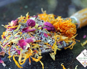 Lavender Potpourri, Organic Herbal Rose, Lavender & Calendula Potpourri, Bulk Loose Potpourri (1lb) sachets, wedding toss, wedding potpourri
