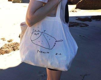 Cat Bag - Purrito Tote - Summer Bag - Beach Bag- Summer
