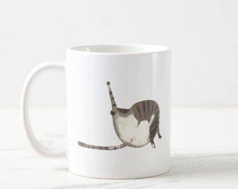 Funny Cat Mug - Gut Wash - Gift for Cat Mom or Cat Dad - Cat Lover Coffee Mug