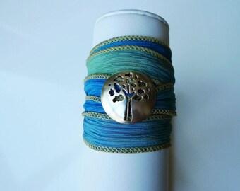 Deciduous Wrap Bracelet
