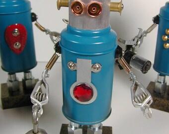 REPAIR TEAM Member #3 Found Object  Robot Sculpture Assemblage
