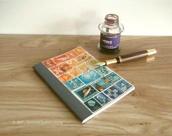 Sunset Sea A6 Birthday Address Book Planner - Stamp Art Gift Idea