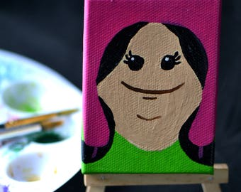 Itty Bitty Louise - Mini Bobs Burgers Painting