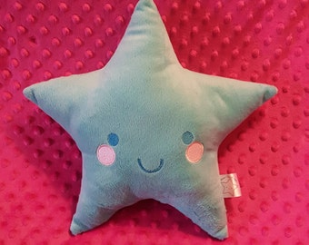 NEW COLOR! AQUA Soft Star Plush