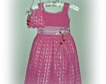 Avery's Strawberry and Cream Lace crochet children dress Digital e Pattern (girl size 1, 2, 4, 6) 024P-SM