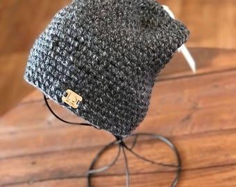 Crochet Slouchy Beanie Hat Textured Beanie Knit Hat Toque Winter Hat