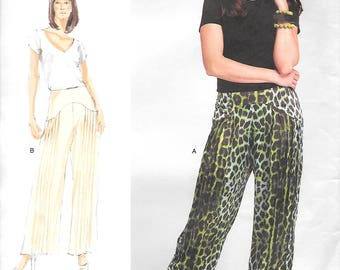 Vogue 1307 UNCUT Wide Legged Pants with Pleats Sewing Pattern All Sizes Harem Style Pants