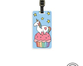 Luggage Tag Unicorn Cupcake Luggage Tag - Single Tag