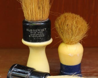 Vintage Mid Century Ever Ready, Rubberset 200-4 and Rubberset Bakelite Handle Lot of Shaving Brushes