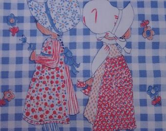 Holly Hobbie Fabric / 1 yard Vintage Cotton