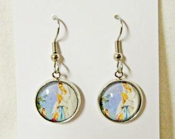 Lady of Lourdes earrings - AP18-211