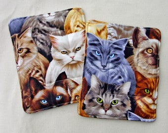 Cat Pot Holders - Cat Lady Decor - Cat Hot Pads - Cat Mom Gift - Cat Dad Gift - Kitty Pot Holders - Cat Lover Gift - Kitty Hot Pads