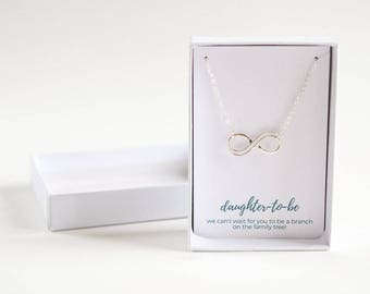 Daughter to Be Silver Necklace - Daughter in Law Gift - Gift for Bride - Bridal Shower Gifts - Daughter to Be Necklace - Wedding Gift