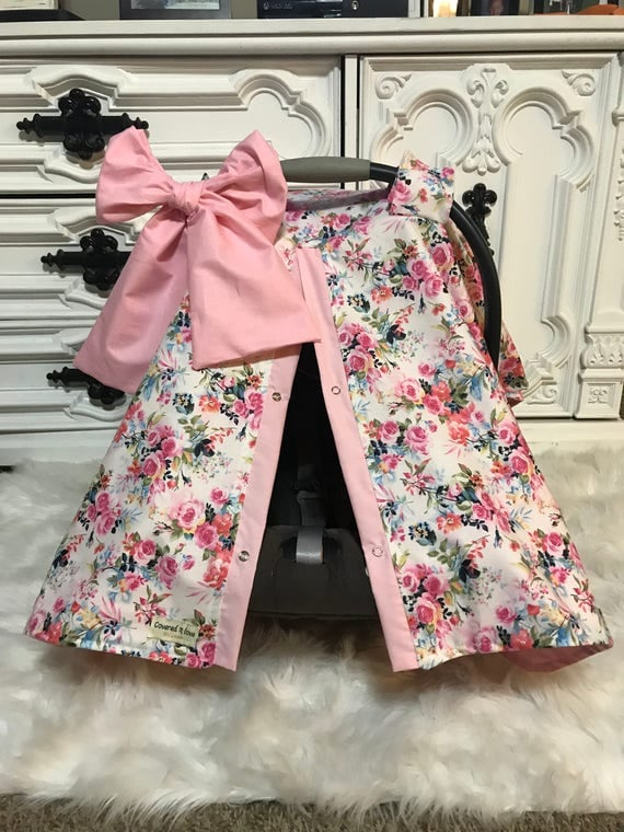 car seat canopy / carseat canopy / car seat cover / carseat cover / infant carseat canopy / nursing cover BOW included