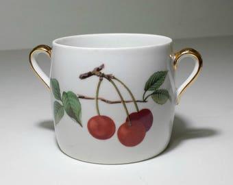 Royal Worcester Evesham Marmalade No Lid / 1980s Porcelain Marmalade Evesham Gold Without Lid / Evesham Marmalade Cherry Apple