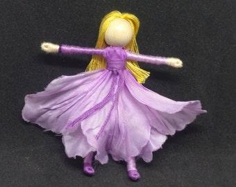 Flower Fairy Doll - Morning Glory Flower Art Doll