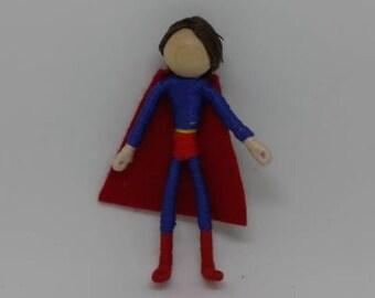 "Super Hero Doll - 3"" bendy doll, Fairy Doll - comic book doll"