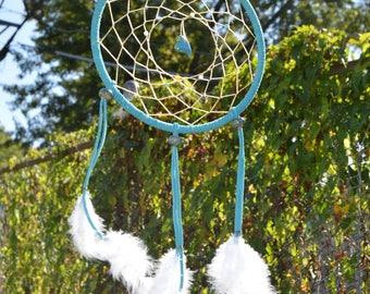 Turquoise Open Center Dangle Heart DreamCatcher
