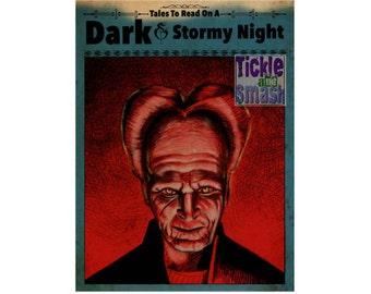 Horror Vampire Card - Dracula Card, Scary Card, Halloween Card, Movie Fan Card, Scary Card, Greeting Card, Snail Mail, Gothic Card