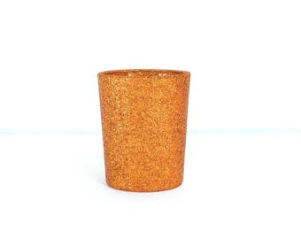 Copper Glittered Votive Candle Holder