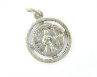 Vintage Saint Rita Catholic Medal - Patron Saint of Mothers - Mother's Day Charm - Rosary Supplies - Catholic Jewelry - Y89