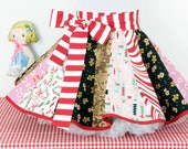 Christmas Apron Candy Cane Gingerbread Scrappy Handmade Half Apron