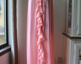 Vintage Candy Pink Nightgown, Lounge Wear, Romantic, Free Size