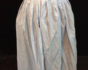 Striped linen petticoat for a common woman, 18th century, size 10-12