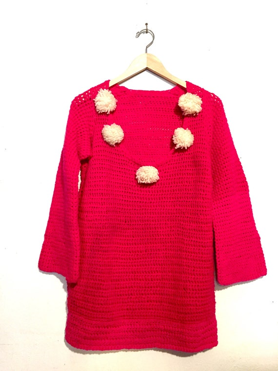 Pom Pom Detail Sweater Tunic