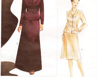 Sz 18/20/22 - Vogue Dress Pattern 2764 by OSCAR de la RENTA - Misses' Jacket and Skirt in Two Lengths - Vogue American Designer