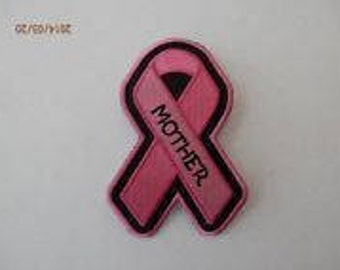 Pink Ribbon Breast Cancer Awareness Patch MOTHER