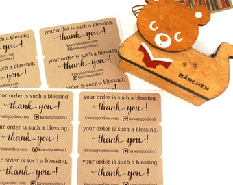 Your order is such a blessing - thank you stickers - Social media stickers with heart camera - small business, etsy shop