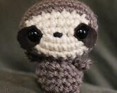 Baby Sloth Amigurumi Toy - Tiny Sloth Doll - Geeky Gift Idea - Stocking Stuffer - Amigurumi Animal - Sloth Toy - Crocheted Sloth - Crochet