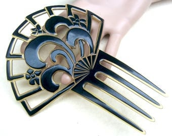 Art Deco hair accessory celluloid hair comb Spanish style headdress headpiece decorative comb hair ornament
