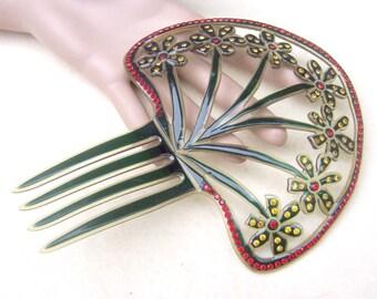 Art Deco hair comb Spanish mantilla style hair accessory hair fork decorative comb headpiece headdress