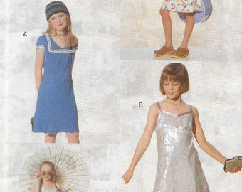 Vintage Sewing Pattern  Girls' Dress in Two Styles Vogue For Me 9828 Dressy or Casual
