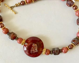 Rich Sunset Red Choker Necklace